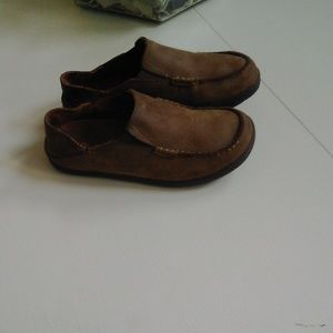 Olukai  Moloa Brown slip on shoes